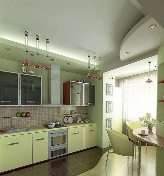 Không gian bếp rộng - thoáng