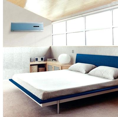 Lắp điều hòa phía trên giường ngủ